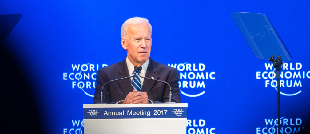 Joseph R. Biden Jr, Vice-President of the United States of America, speaking at the Annual Meeting 2017 of the World Economic Forum in Davos, January 18, 2017.Copyright by World Economic Forum / Mattias Nutt