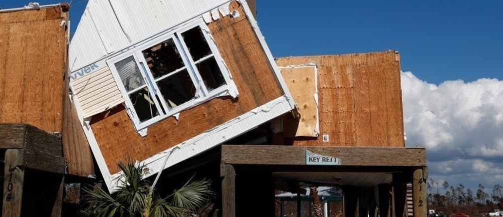 Damage caused by Hurricane Michael is seen in Mexico Beach, Florida, U.S., October 16, 2018.   REUTERS/Terray Sylvester - RC1ED0366AC0