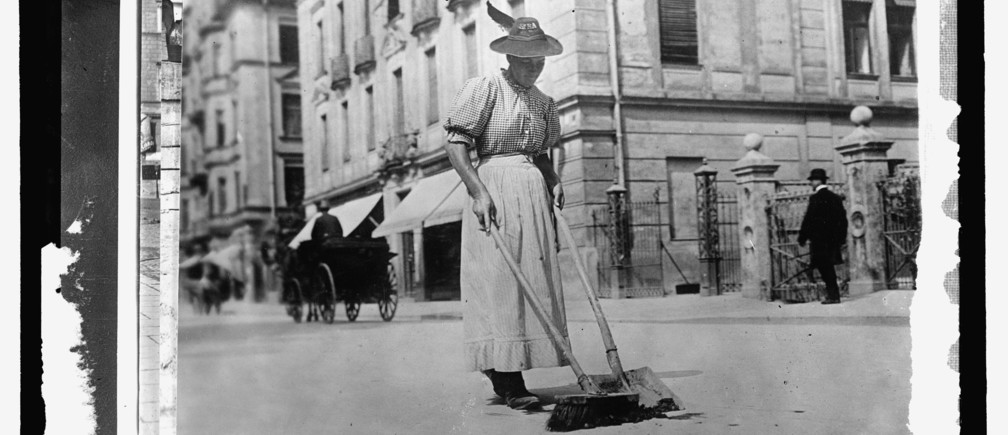 "A woman street worker sweeps a street in Germany, circa 1909-1920, in this Library of Congress handout photo. For women 100 years ago, opportunities to work beyond the home and take part in political life were very limited. As the 20th century progressed, hard-won progress included gradually improved voting rights, while the upheaval of war pushed doors ajar as women worked as part of the war effort. U.S. Library of Congress archive photos show women's workplaces ranging from a flour mill in England to a coal mine in Belgium or Lincoln Motor Co.'s welding department in Detroit. International Women's Day is celebrated on March 8. REUTERS/National Photo Company Collection/Library of Congress/Handout via Reuters  SEARCH ""THE WIDER IMAGE"" FOR ALL STORIES ATTENTION EDITORS - THIS PICTURE WAS PROVIDED BY A THIRD PARTY. REUTERS IS UNABLE TO INDEPENDENTLY VERIFY THE AUTHENTICITY, CONTENT, LOCATION OR DATE OF THIS IMAGE. THIS PICTURE IS DISTRIBUTED EXACTLY AS RECEIVED BY REUTERS, AS A SERVICE TO CLIENTS. FOR EDITORIAL USE ONLY. NOT FOR SALE FOR MARKETING OR ADVERTISING CAMPAIGNS. - GF10000329666"