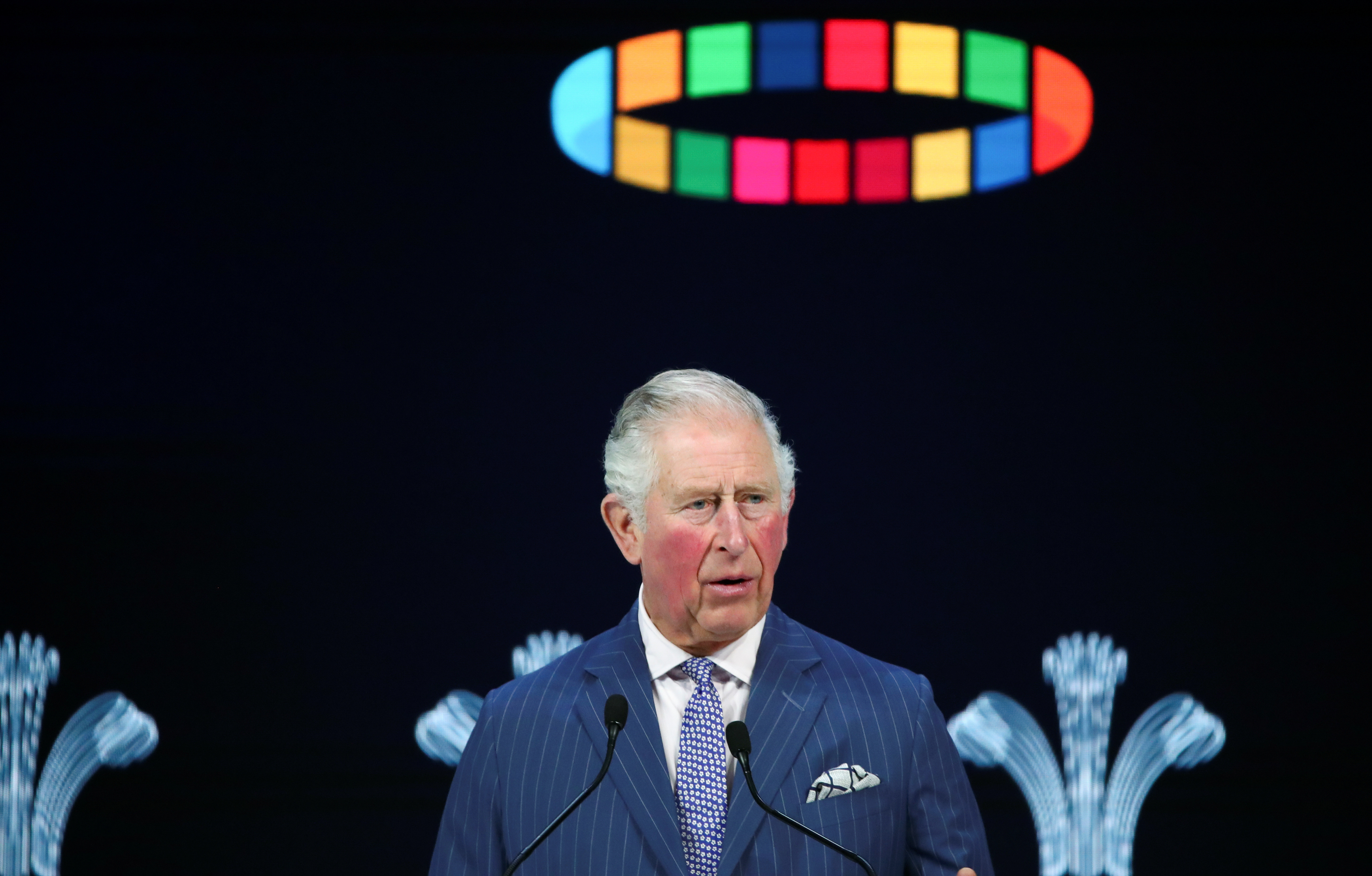 Britain's Prince Charles delivers a special address during the 50th World Economic Forum (WEF) annual meeting in Davos, Switzerland, January 22, 2020. REUTERS/Denis Balibouse - RC22LE92QCCK