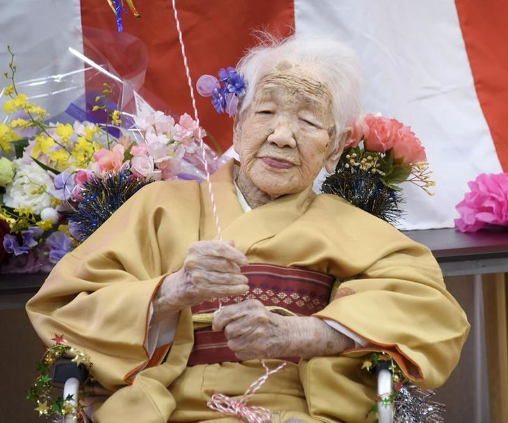 Image of Kane Tanaka, the oldest woman in the world