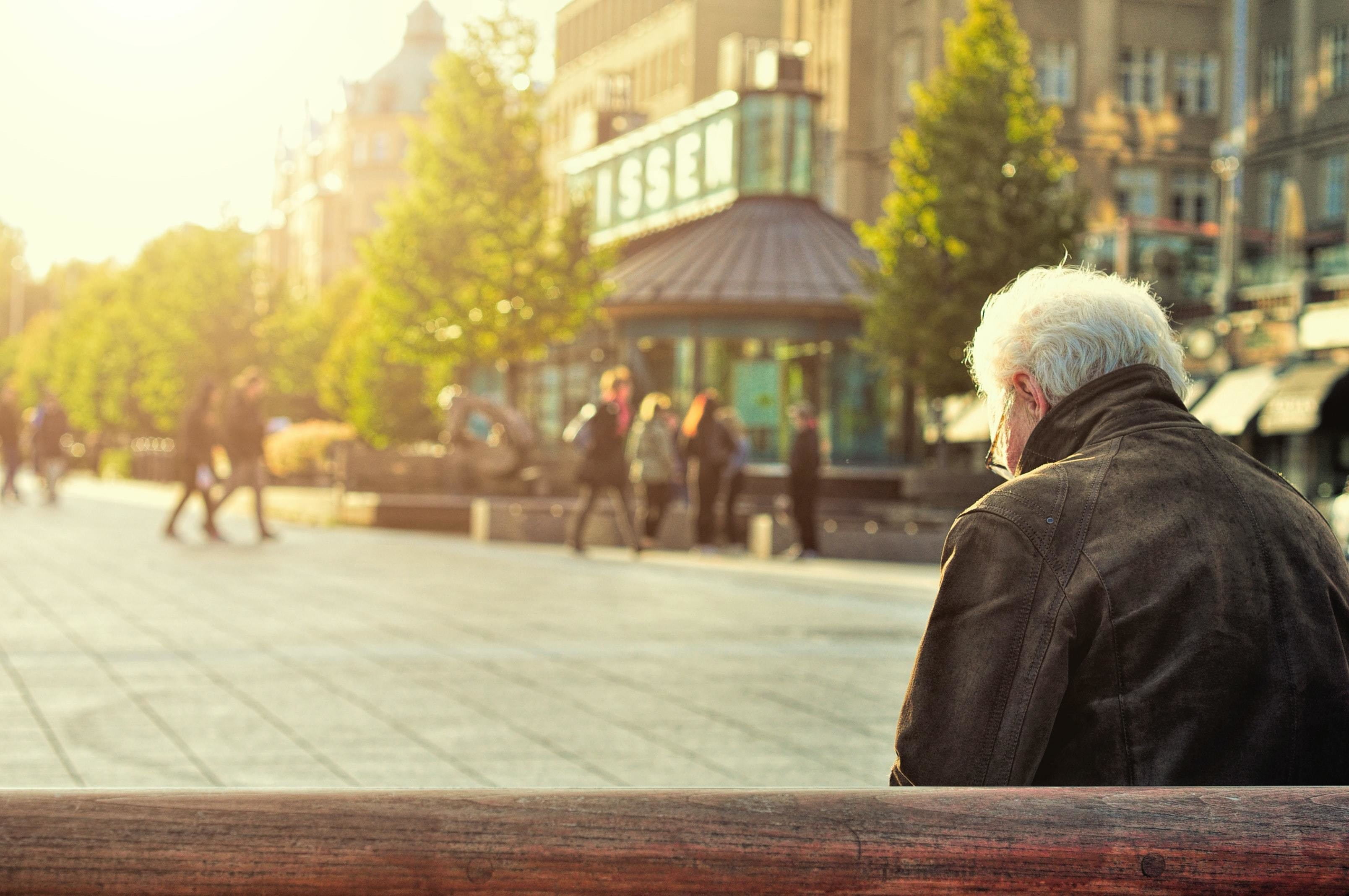 older people, like this man here, may have experienced more loneliness as a result of COVID-19