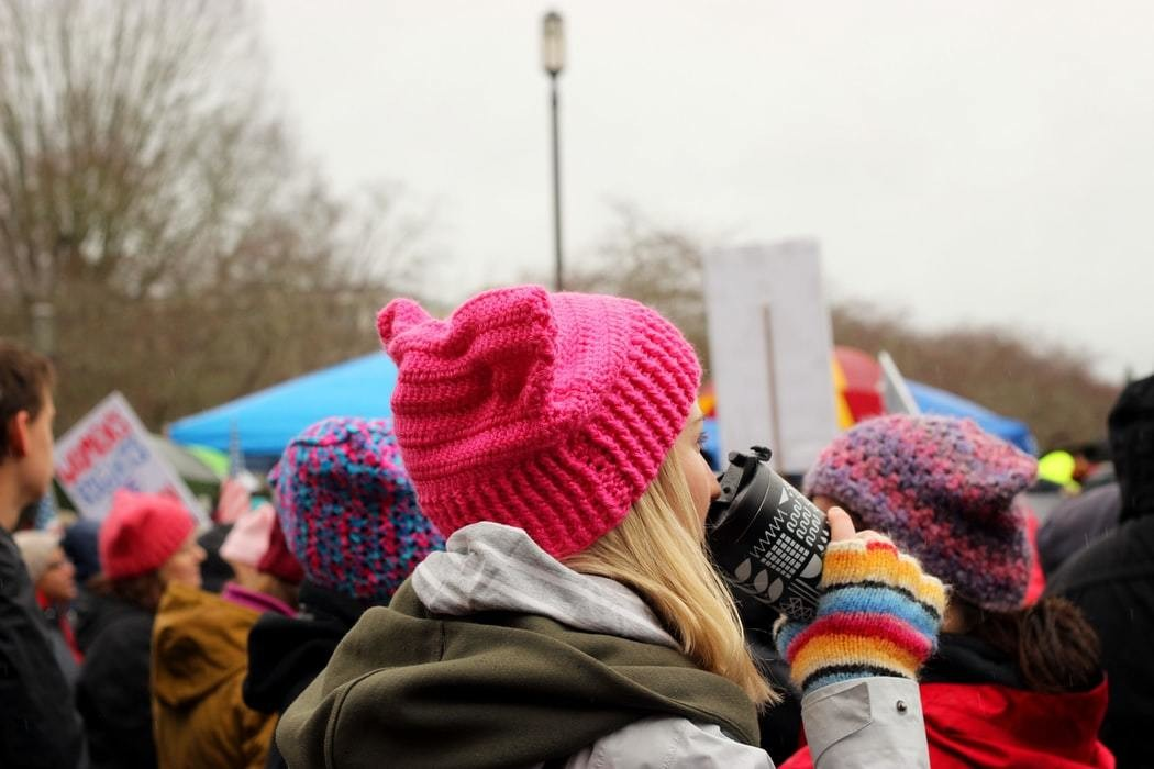 image of a women's rights protest