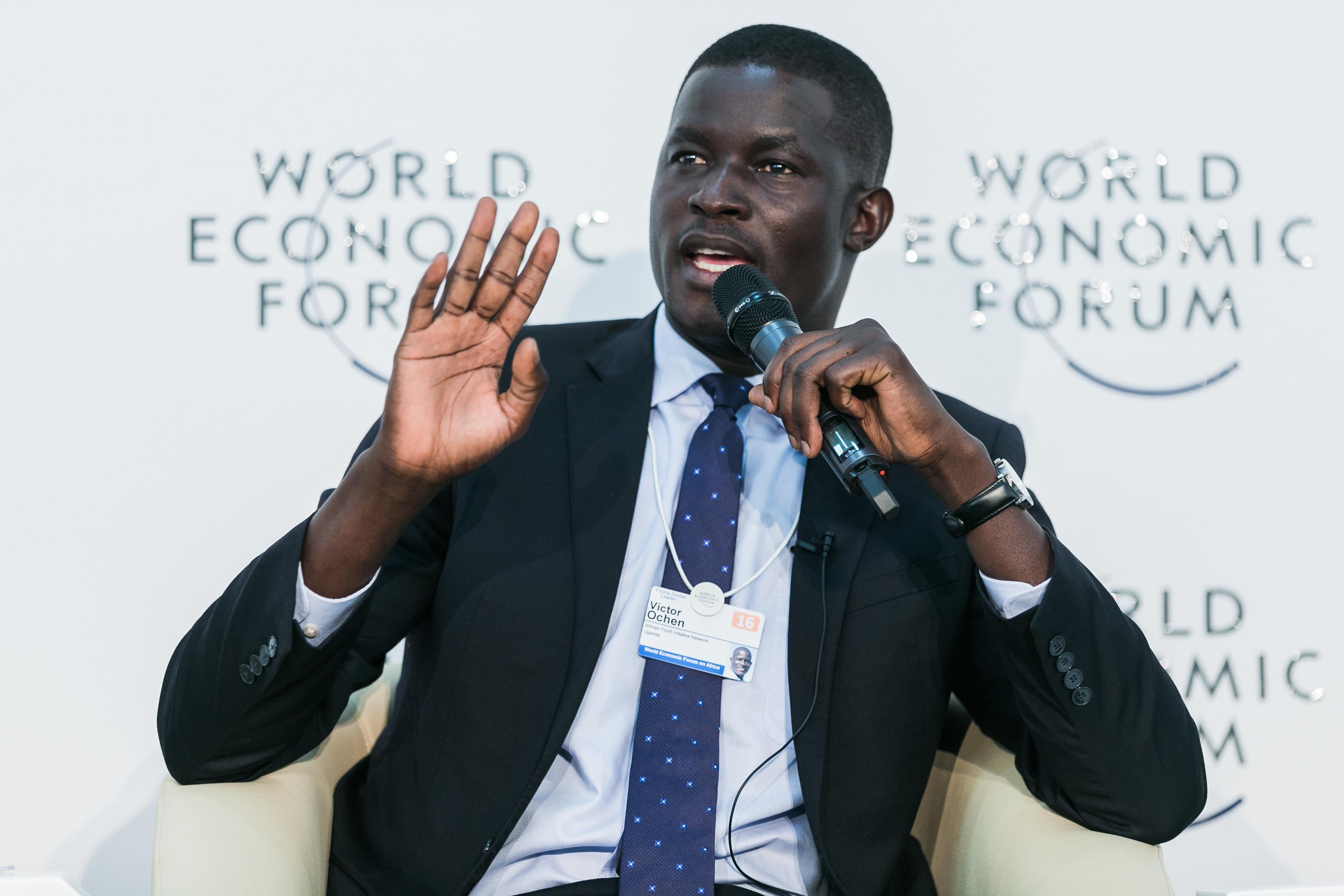 Victor Ochen, Executive Director, African Youth Initiative Network-Uganda, Uganda at the World Economic Forum on Africa 2016 in Kigali, Rwanda. Copyright by World Economic Forum / Benedikt von Loebell