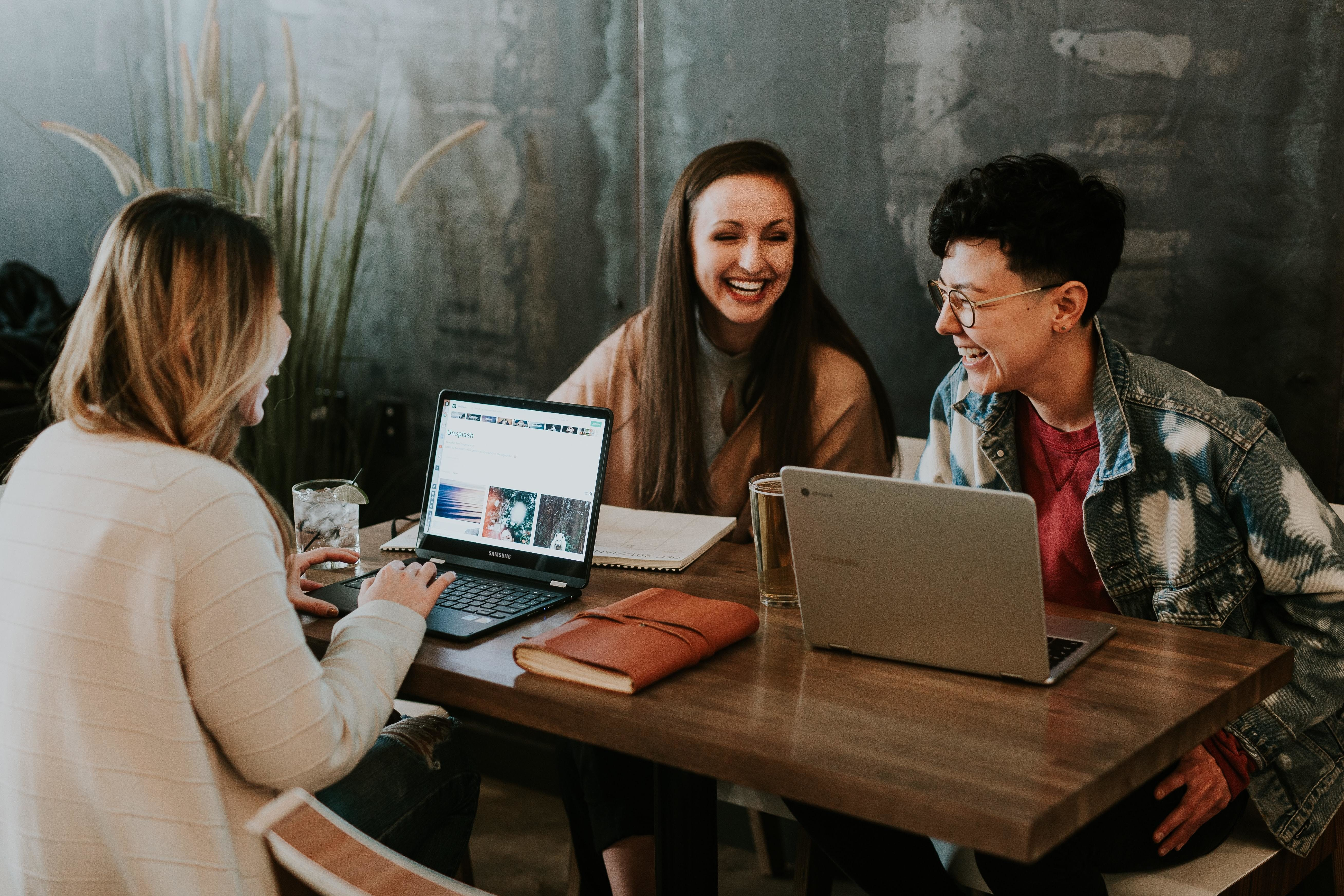 some young workers, like these ones chatting here, have expressed a need to feel respected in the workplace, which they require more than 'trendy' perks