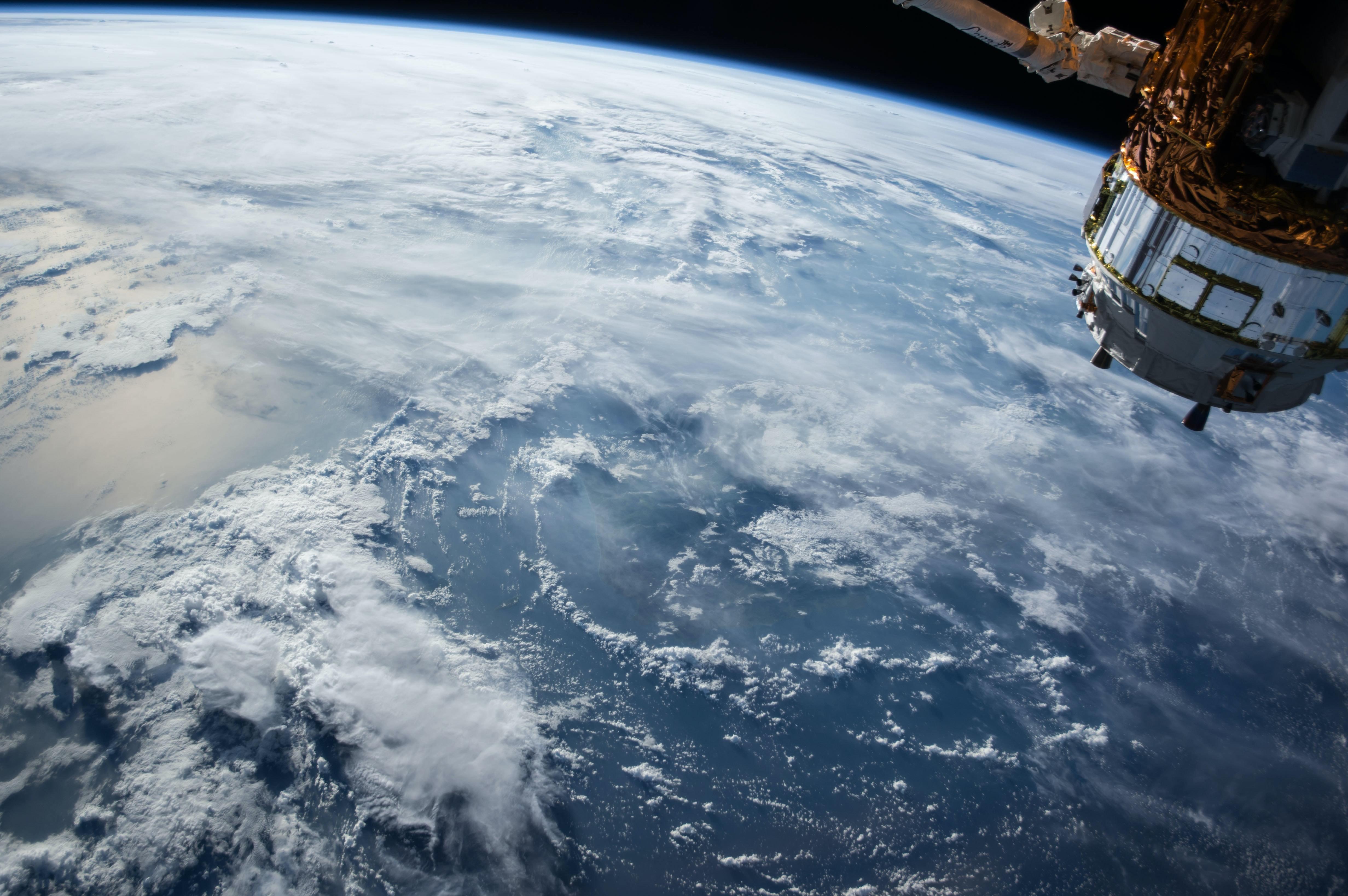 satellite orbit earth space junk climate change nasa pollution humanity orbit rocket launch debris noosphere firefly max polyakov