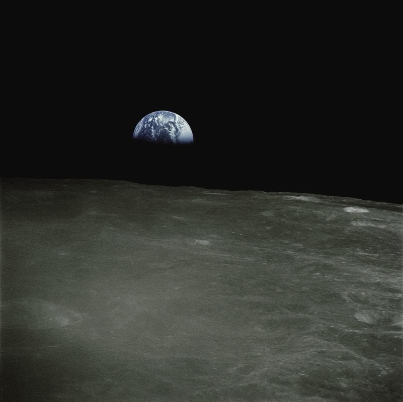 Earth pictured from space.