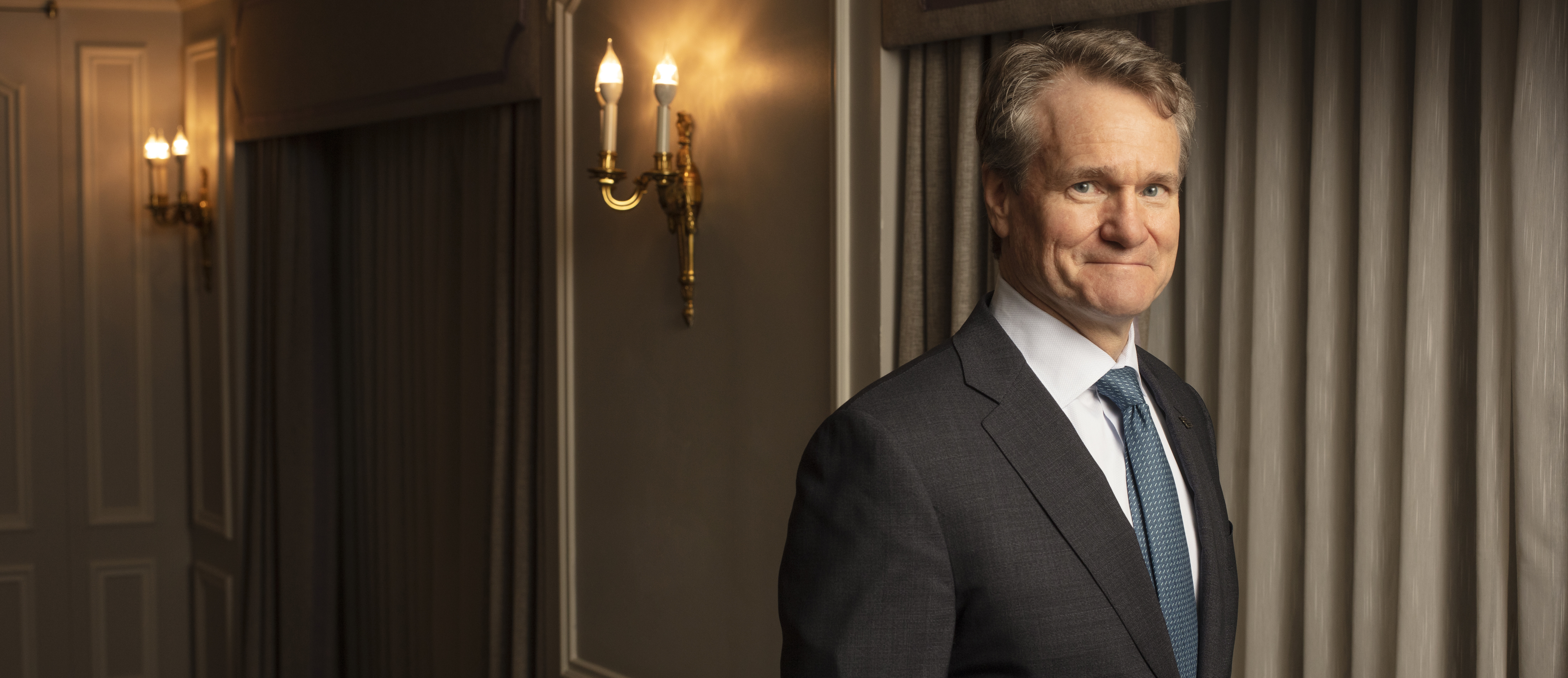 Chairman and CEO of Bank Of America, Brian Moynihan photographed for the Finanical Times in New York City.