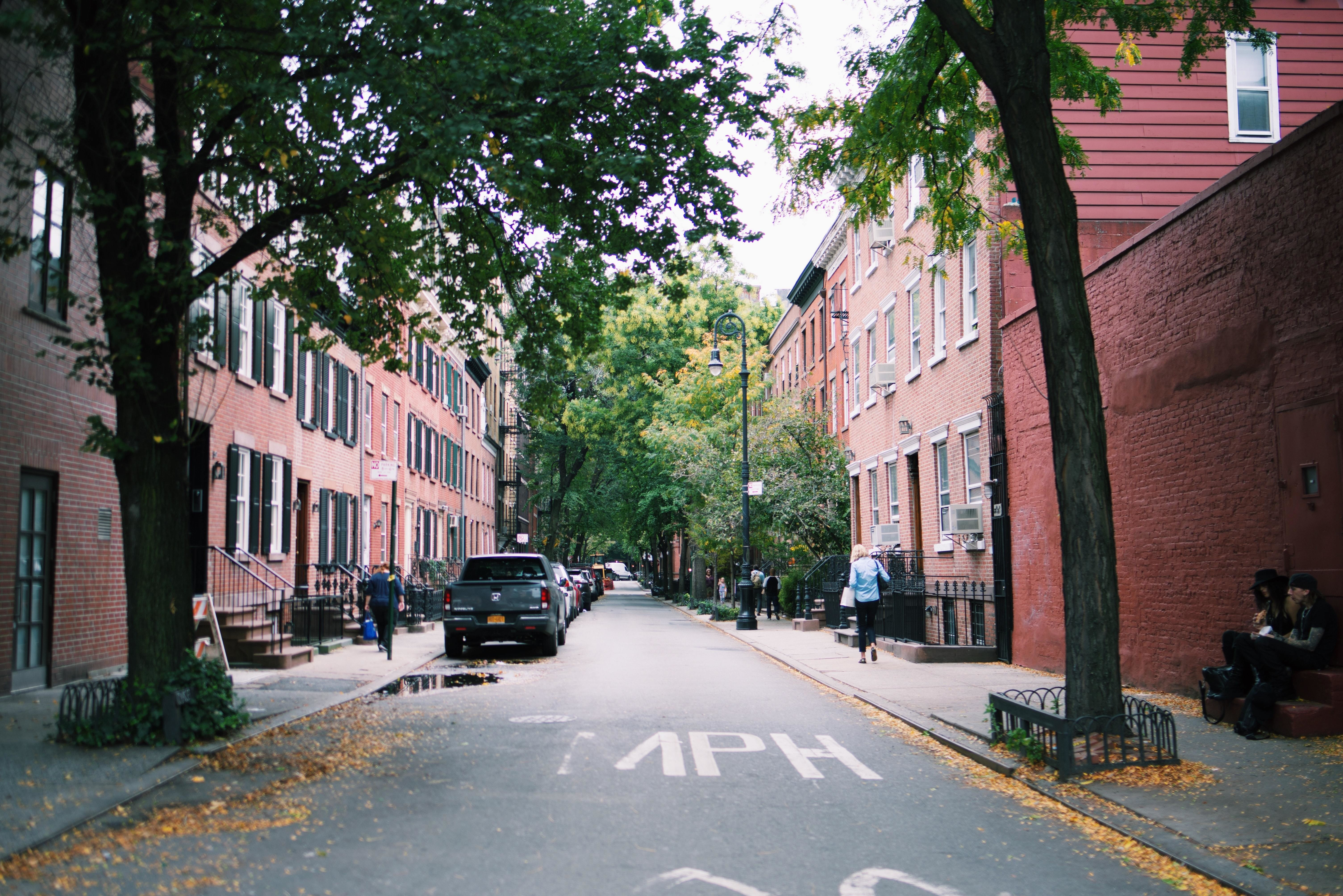 a picture of a street in new york city
