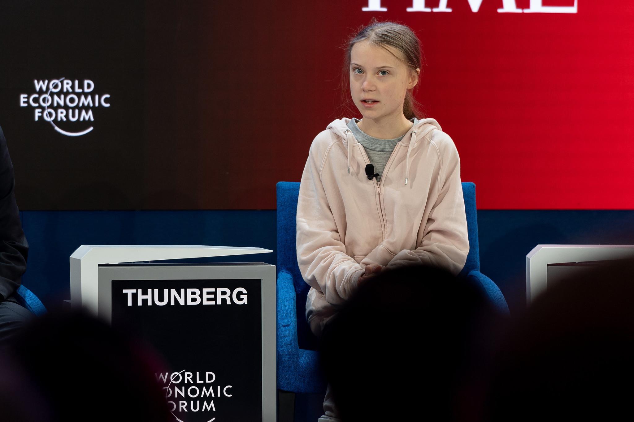 Greta Thunberg Davos Agenda climate change climate emergency ecological crisis
