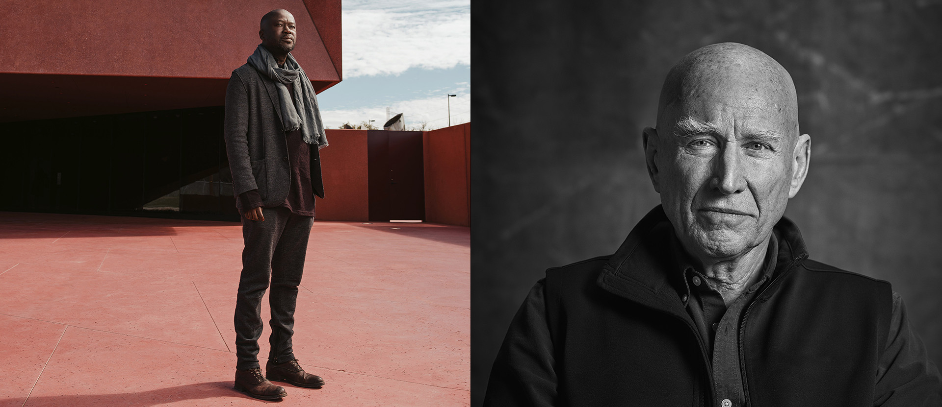 Sir David Adjaye, architect and Sebastião Salgado, photographer winners of the World Economic Forum Crystal Award