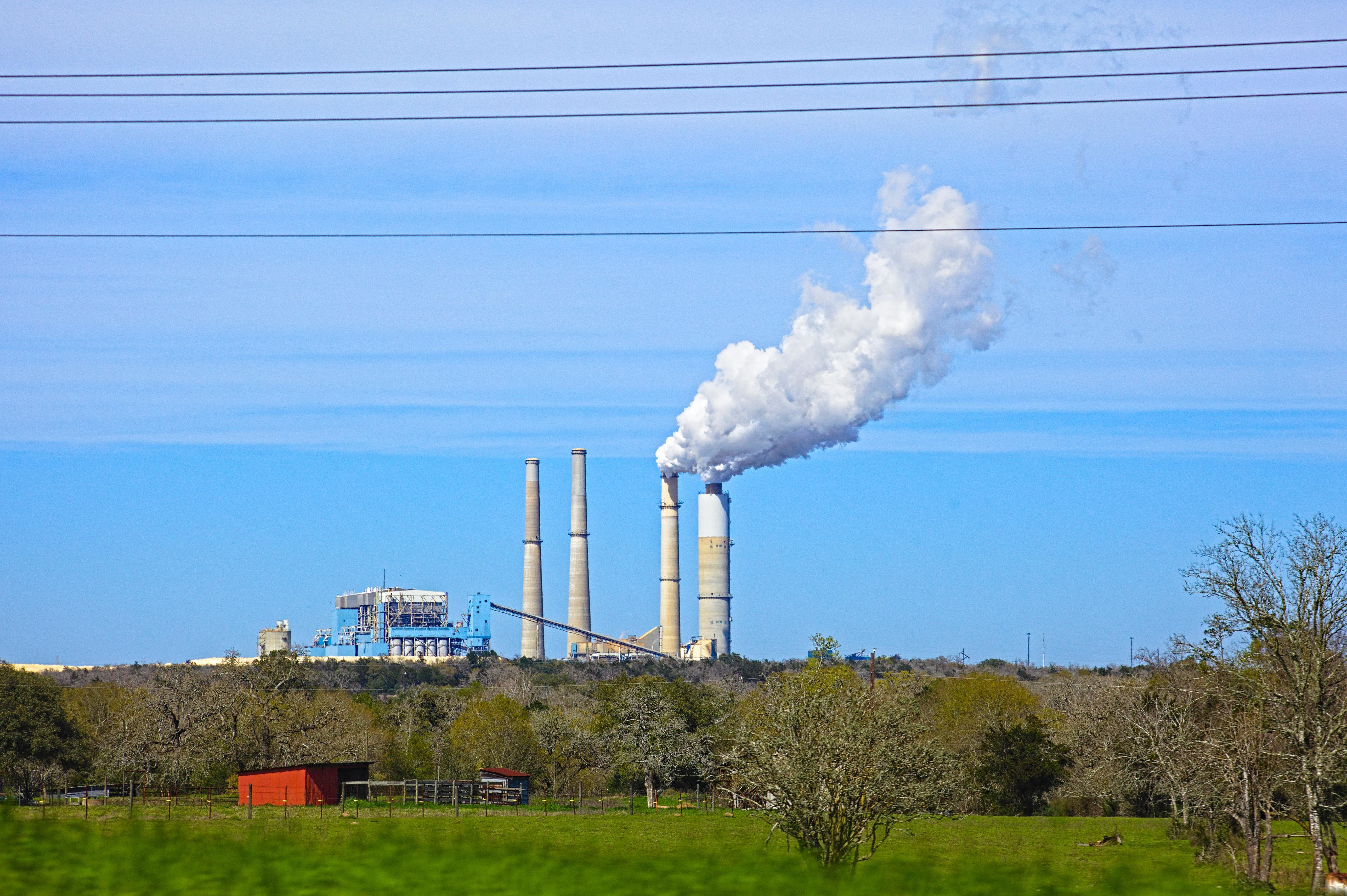 coal power, shown here, is being phased out as part of the attempt to save the planet