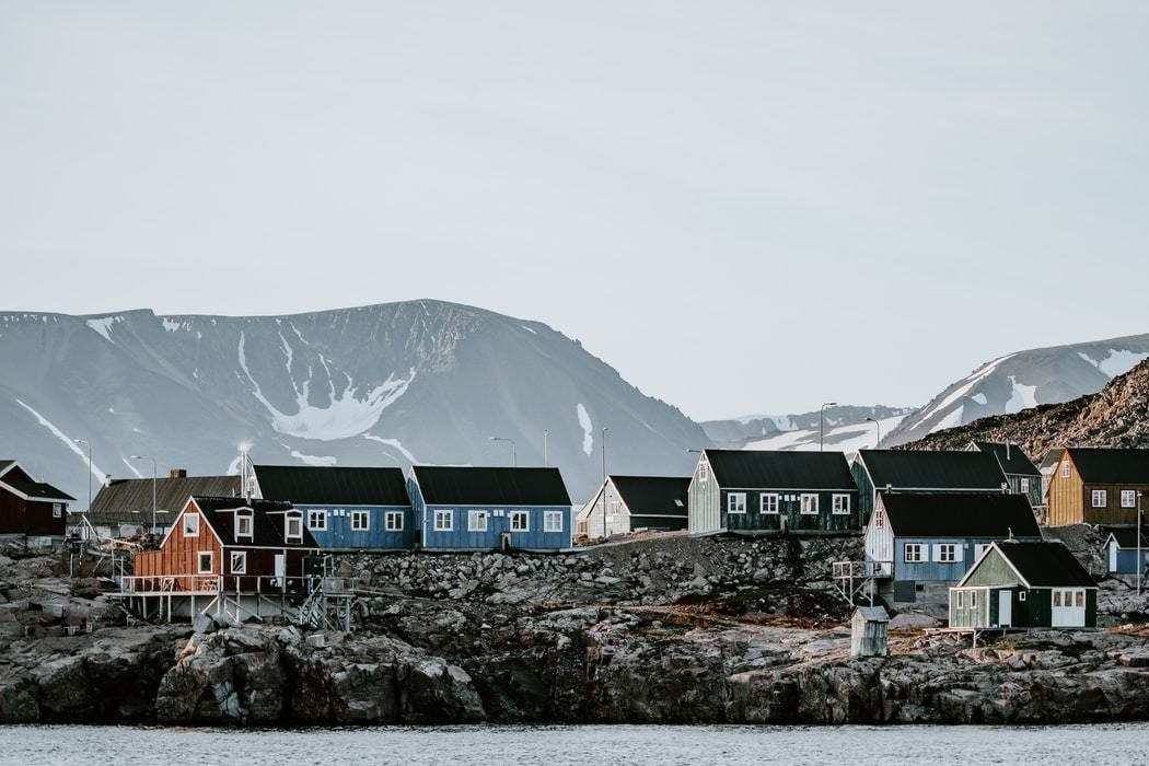 The remote Arctic settlement of Ittoqqortoormiit, Greenland.