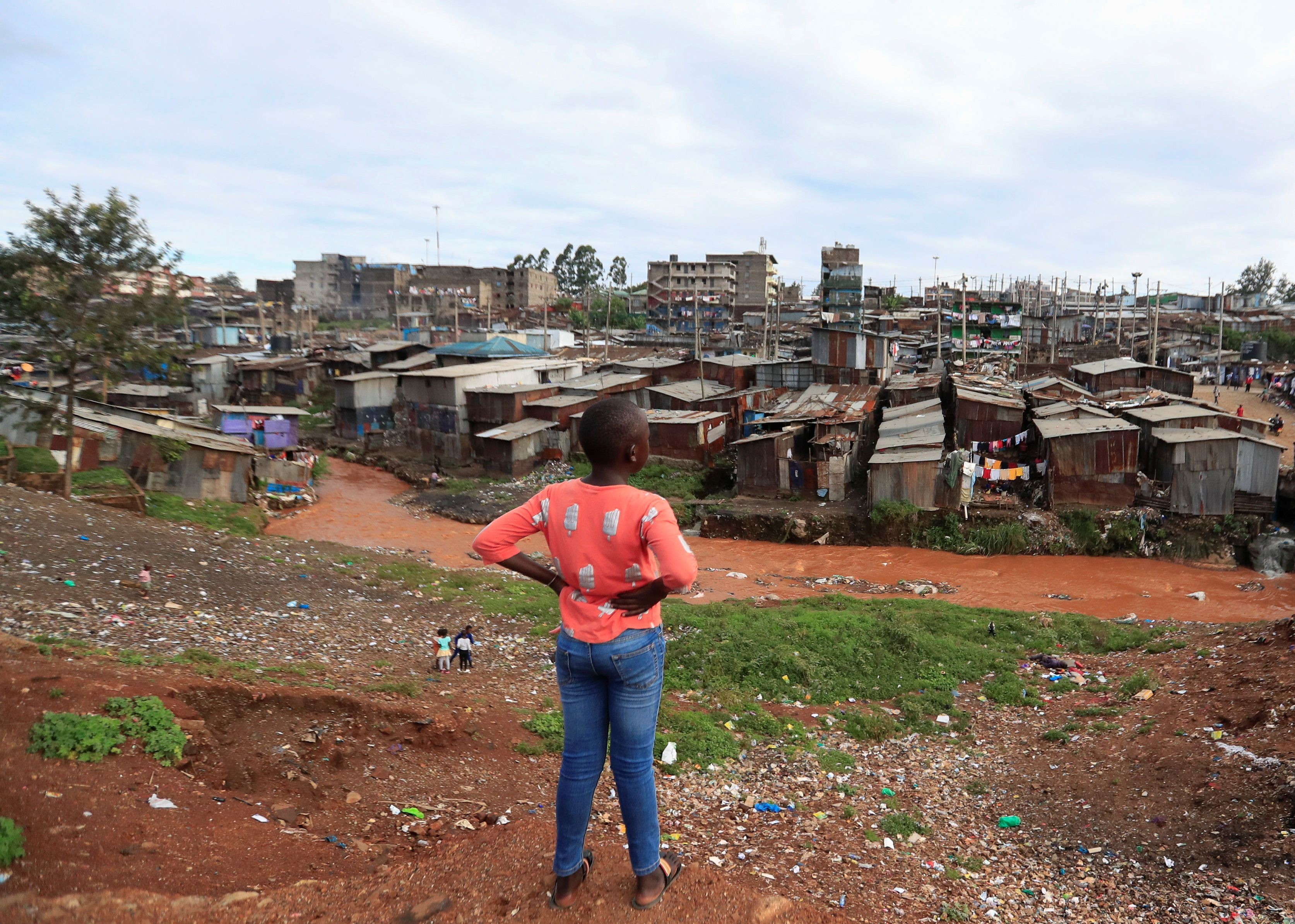CLTs can be used to give people in informal settlements like this one in Nairobi, Kenya land rights and settled tenures.