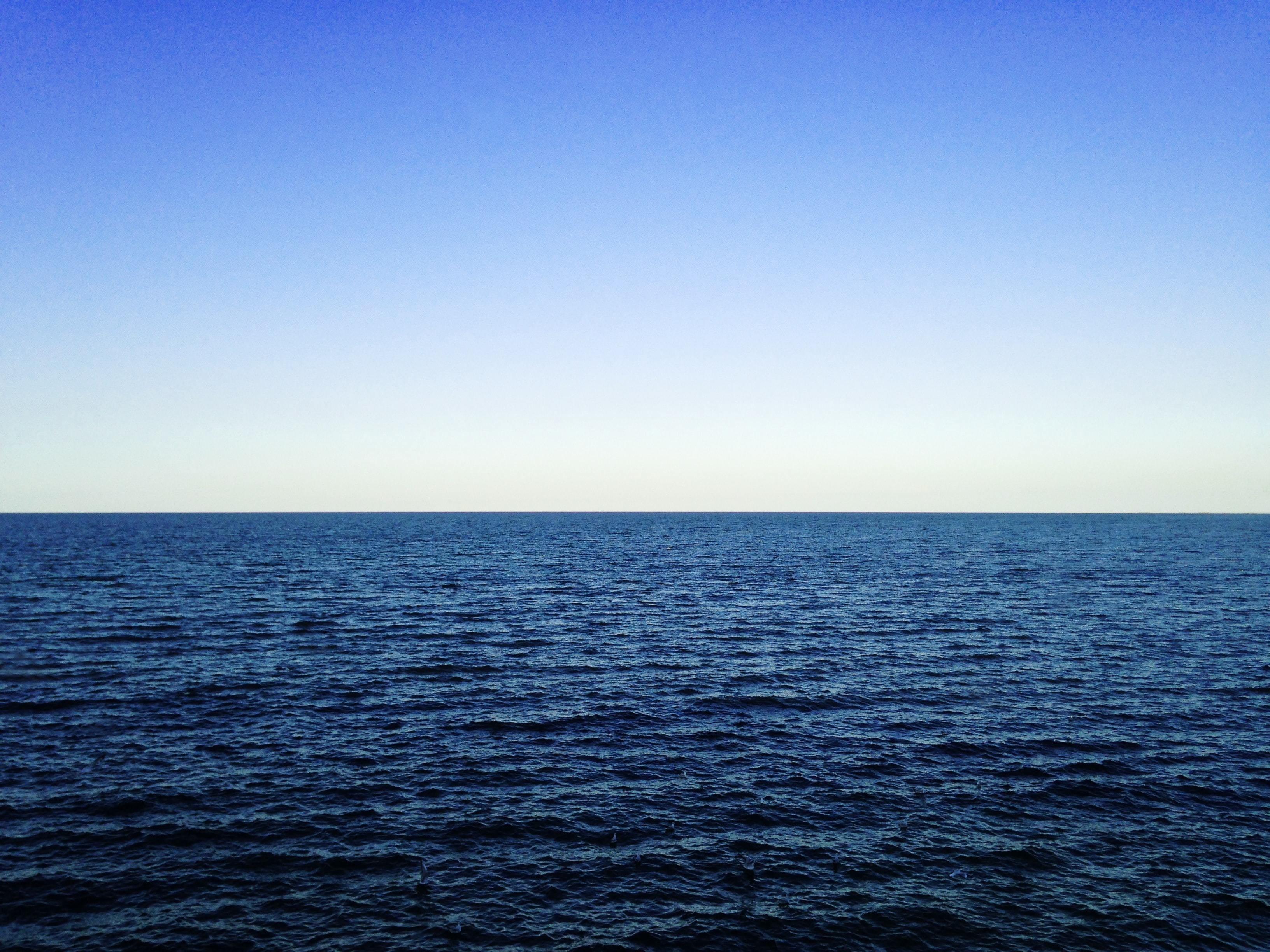 image of an ocean. Heat rising from the ocean can create a problematic heat dome, like the one in North America