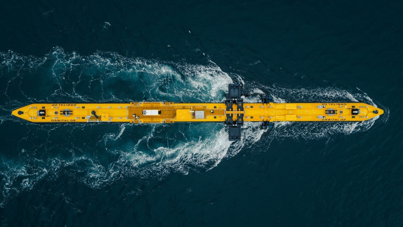 this is the world's most powerful tidal energy turbine in operation in Orkney