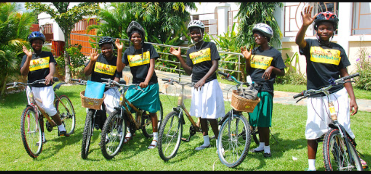 Bike donations to far flung schools in Ghana help students stay in school.
