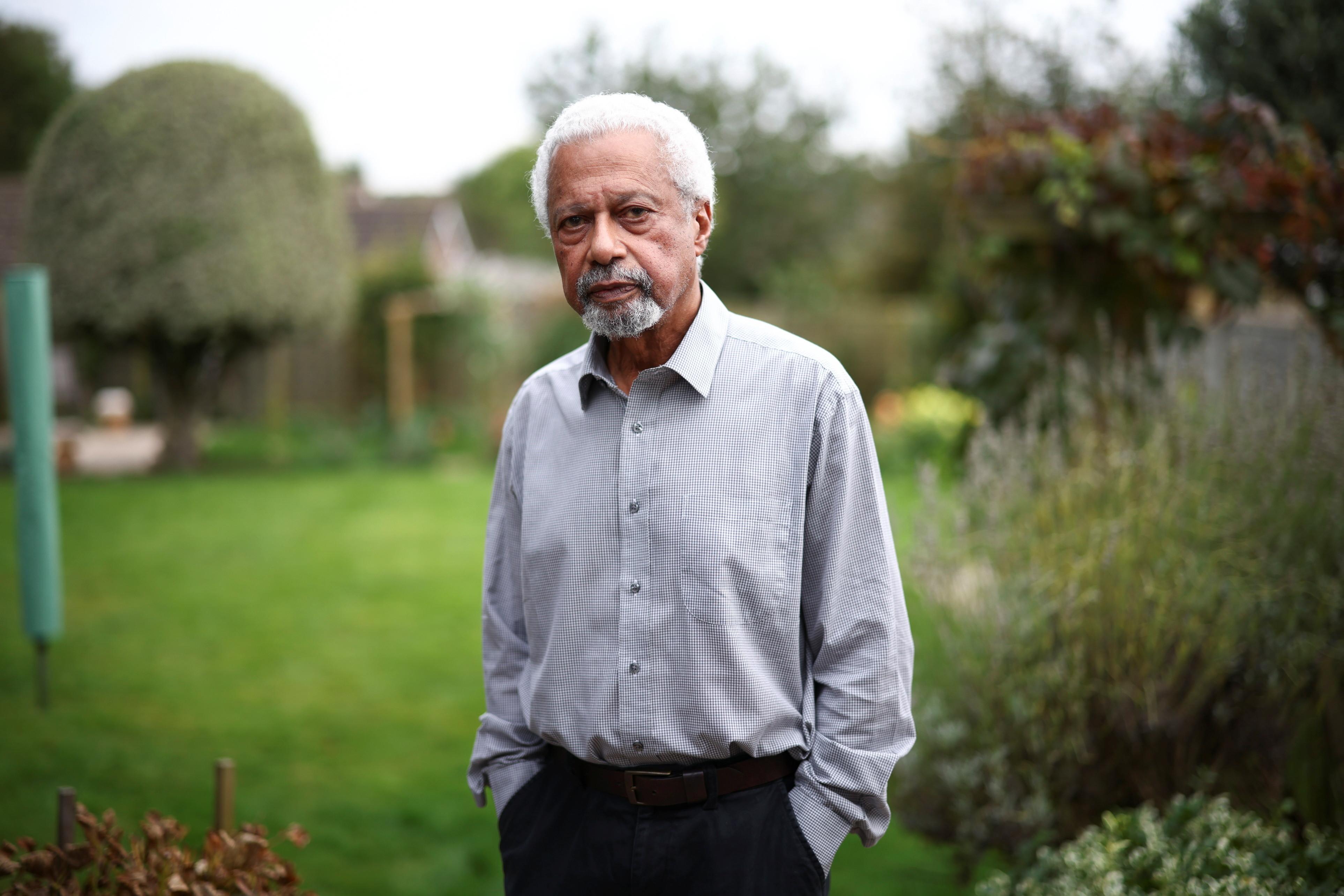 Tanzanian novelist Abdulrazak Gurnah, winner of the 2021 Nobel Prize for Literature, poses at his home in Canterbury, Britain, October 7, 2021