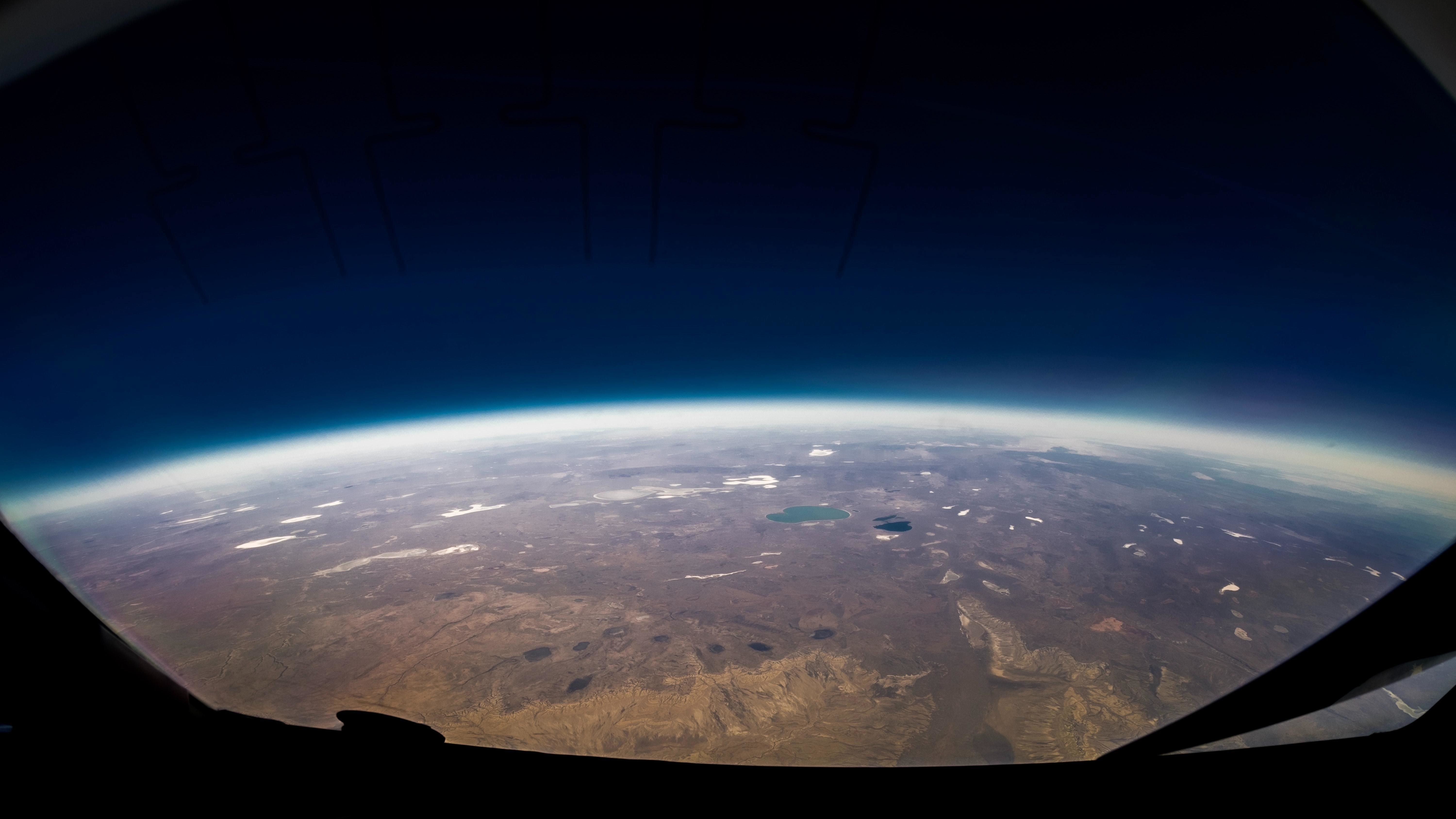 this part of Earth is shown here from space at a high altitude