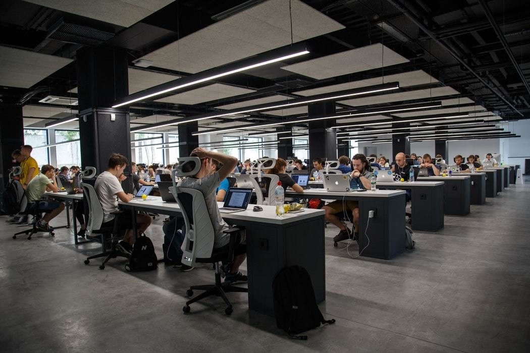 image of people working in an office