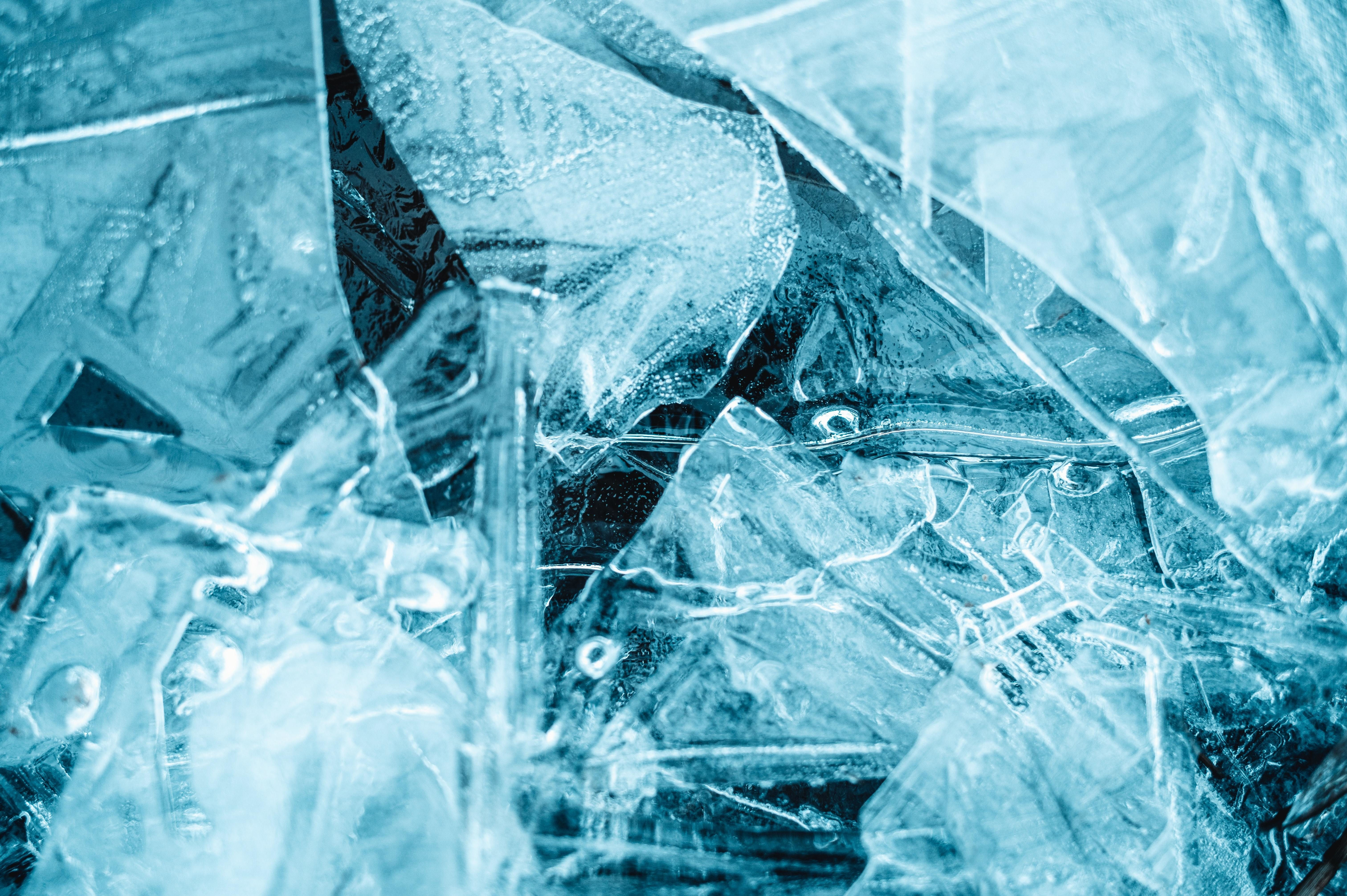 ice, shown here, can store energy and help customers reduce their carbon footprint
