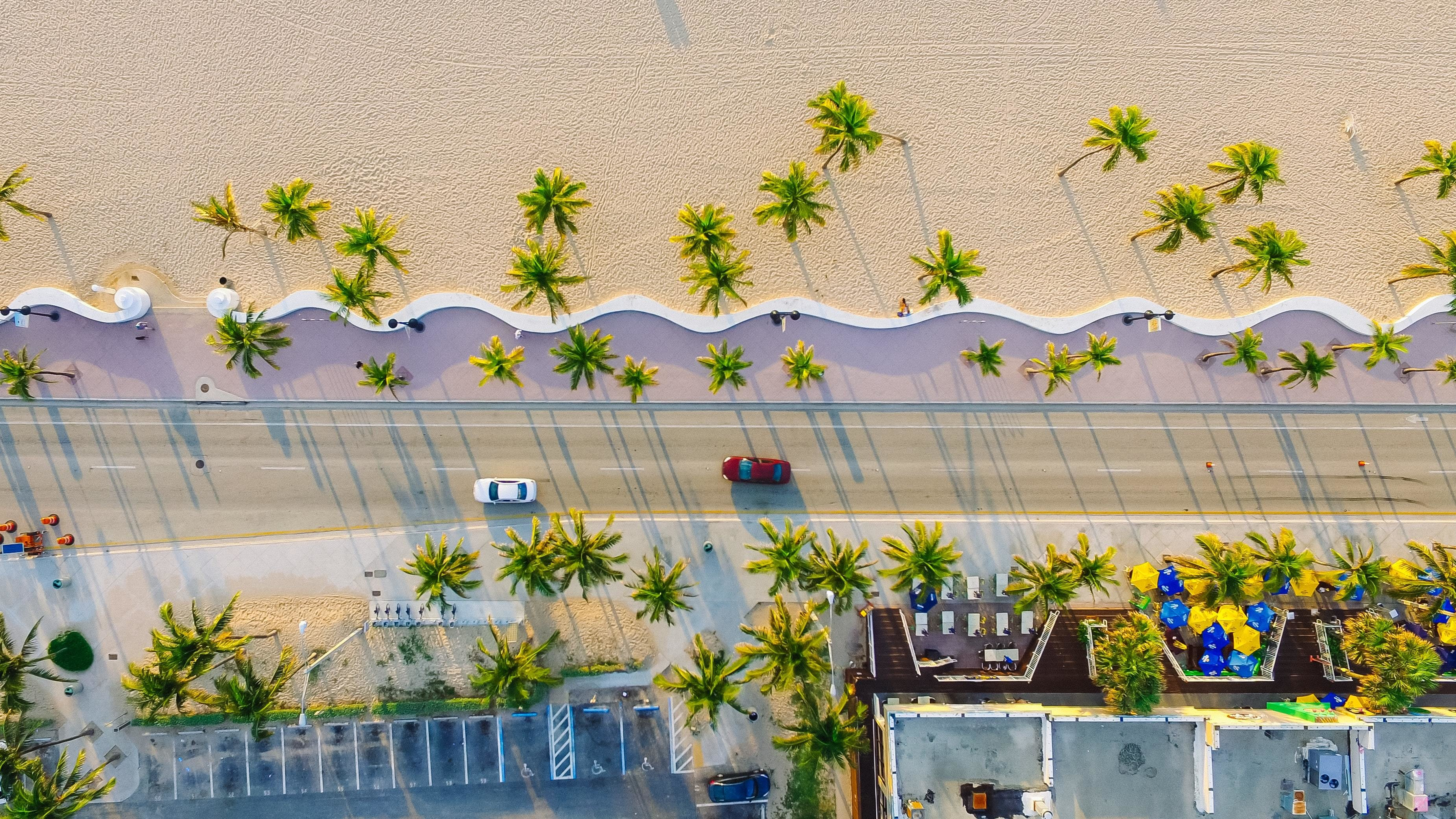 image of a sunny road in Miami