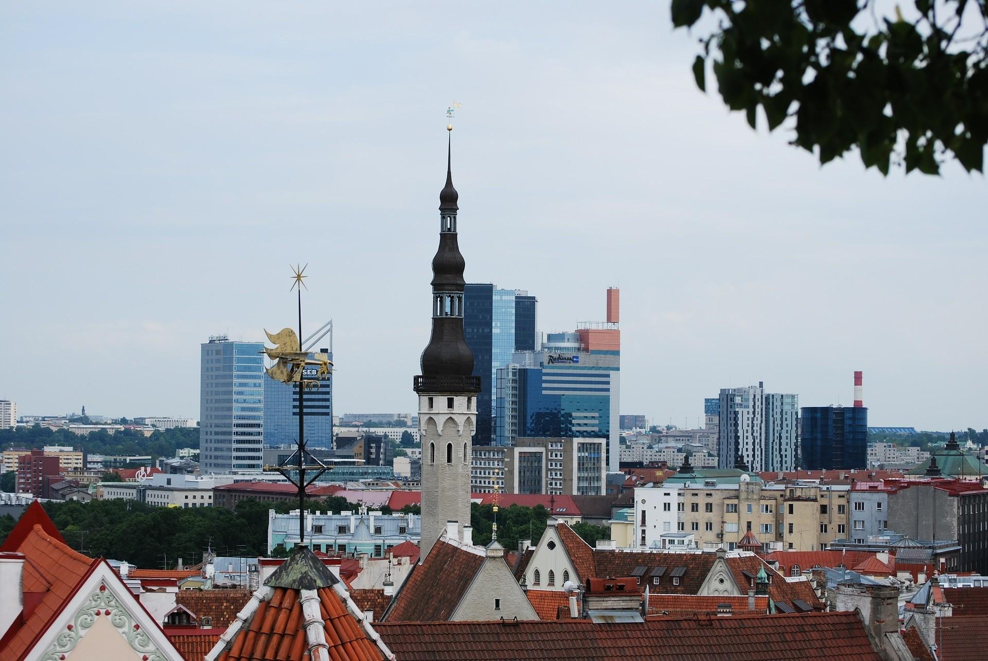 Tallinn city and houses