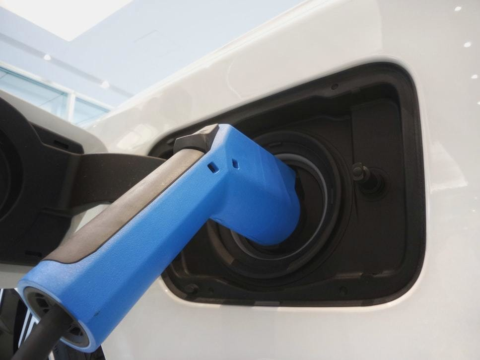 image of an electric vehicle being charged