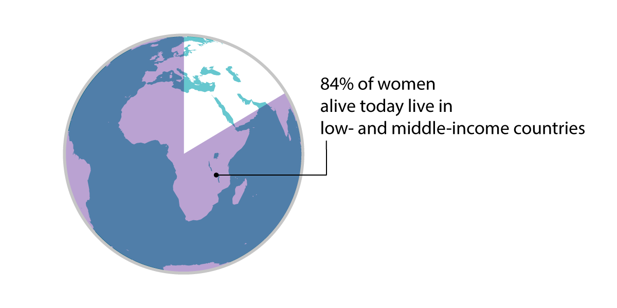 Proportion of women in low-income countries