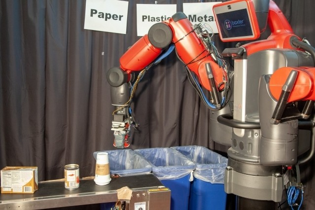 RoCycle can detect if an object is paper, metal, or plastic. CSAIL researchers say that such a system could potentially help enable the convenience of single-stream recycling with lower contamination rates that confirm to China's new recycling standards.