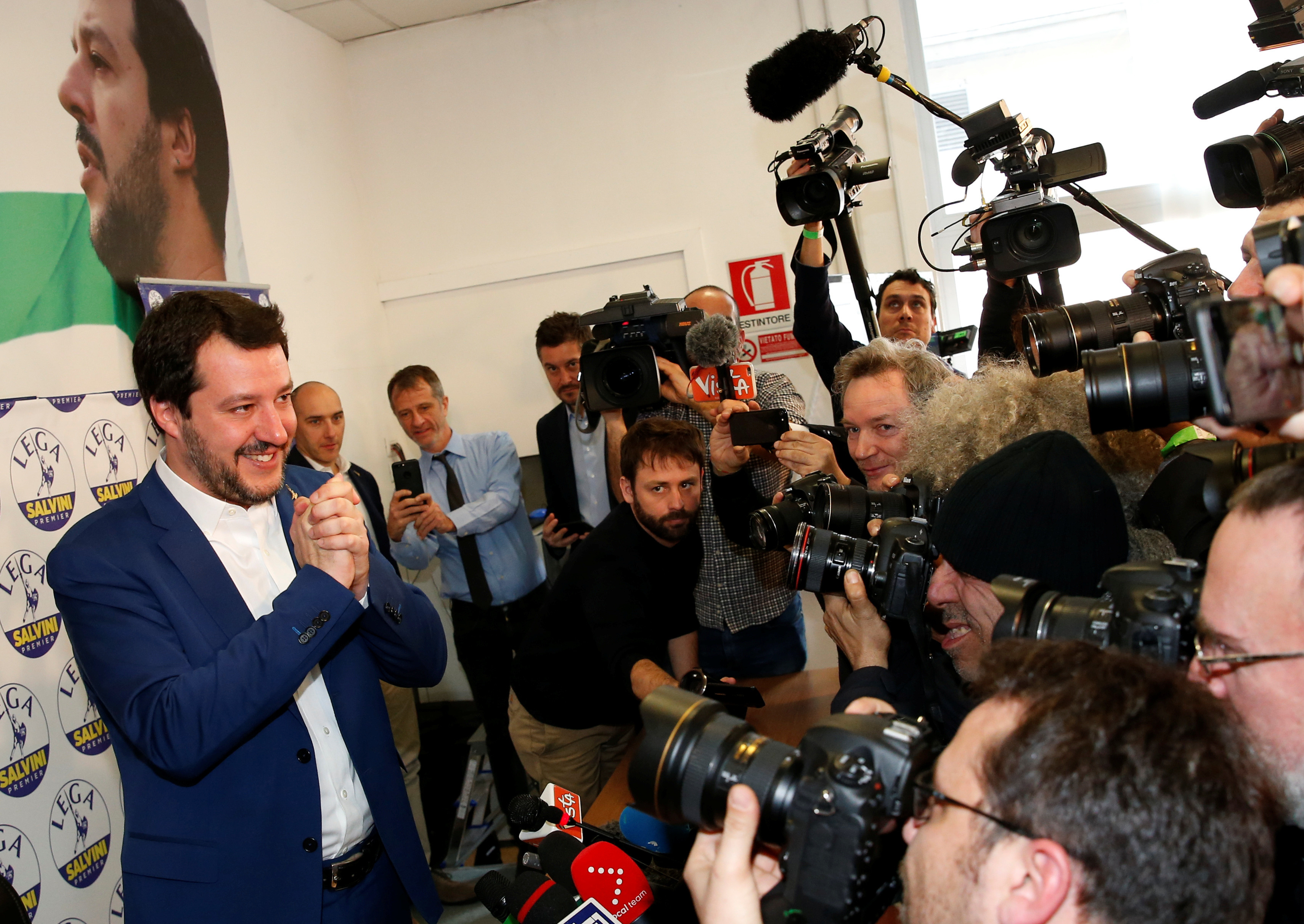 Matteo Salvini, leader of the League, after the election.