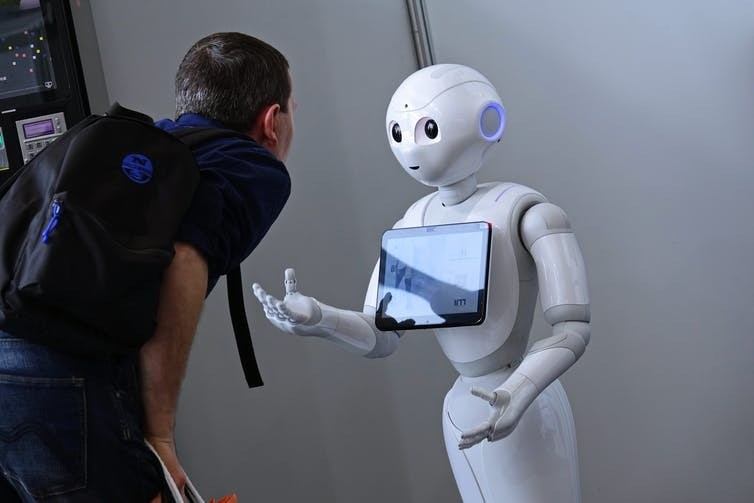 Humanoid robots like Pepper can provide more complex care to seniors.
