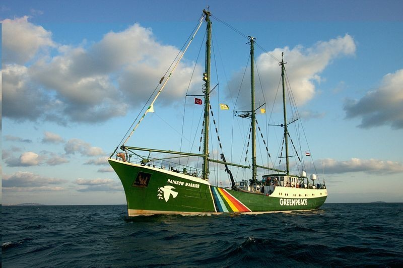 Greenpeace uses its ships to engage in both direct action and research.