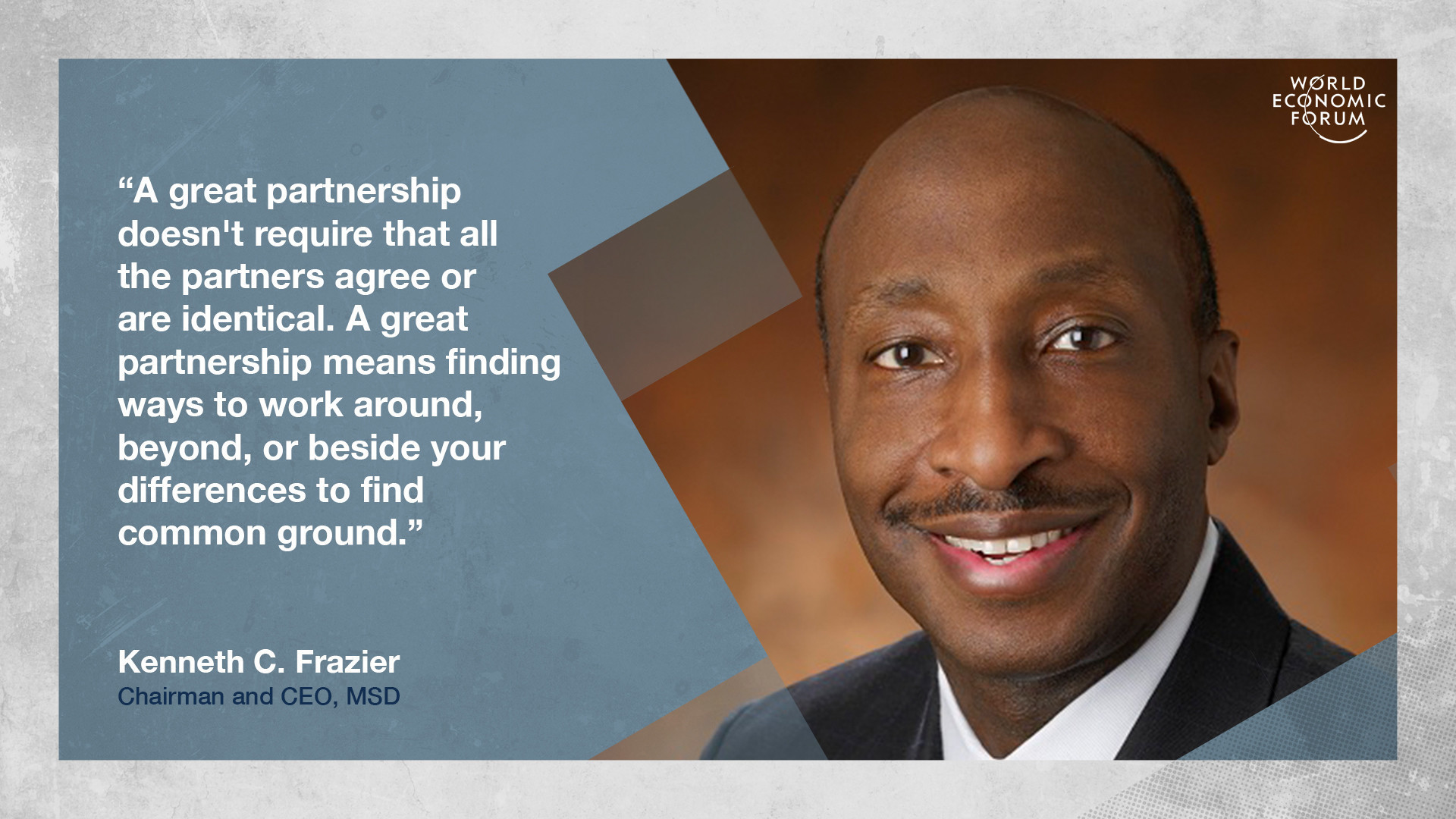 Kenneth C. Frazier on working together beyond differences