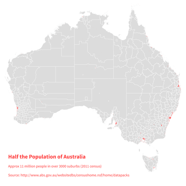 Australia's population mapped