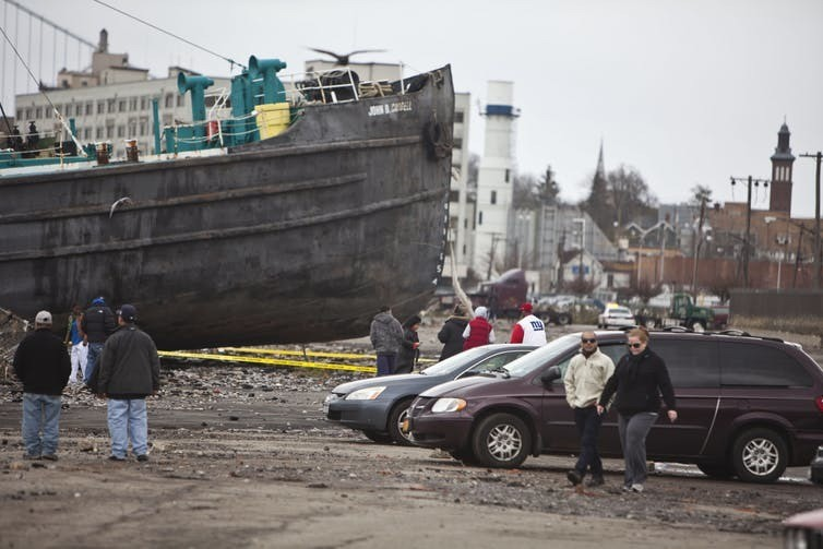 Hurricane Sandy caused severe flooding in New York City in 2012 badly damaging the subway system and releasing 10 billion gallons of sewage into surrounding waters.