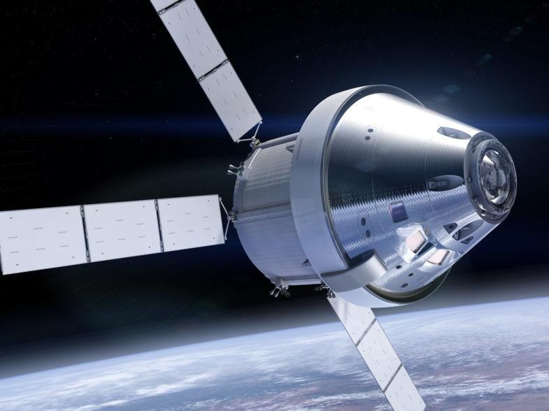 Vue d'artiste de la capsule Orion.