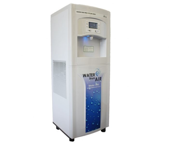 No ordinary water cooler, this machine makes drinking water from the air.