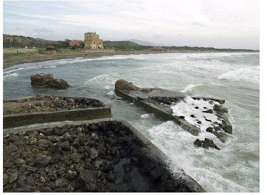 The Portus Cosanus in Italy, where a bulk of the research was conducted.