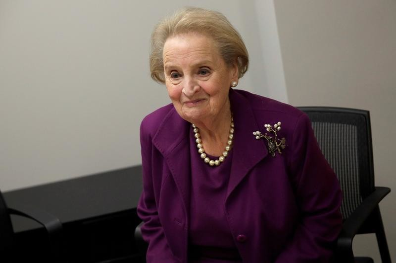 Former U.S. Secretary of State Madeleine Albright speaks before an interview in Washington, U.S., November 28, 2016.