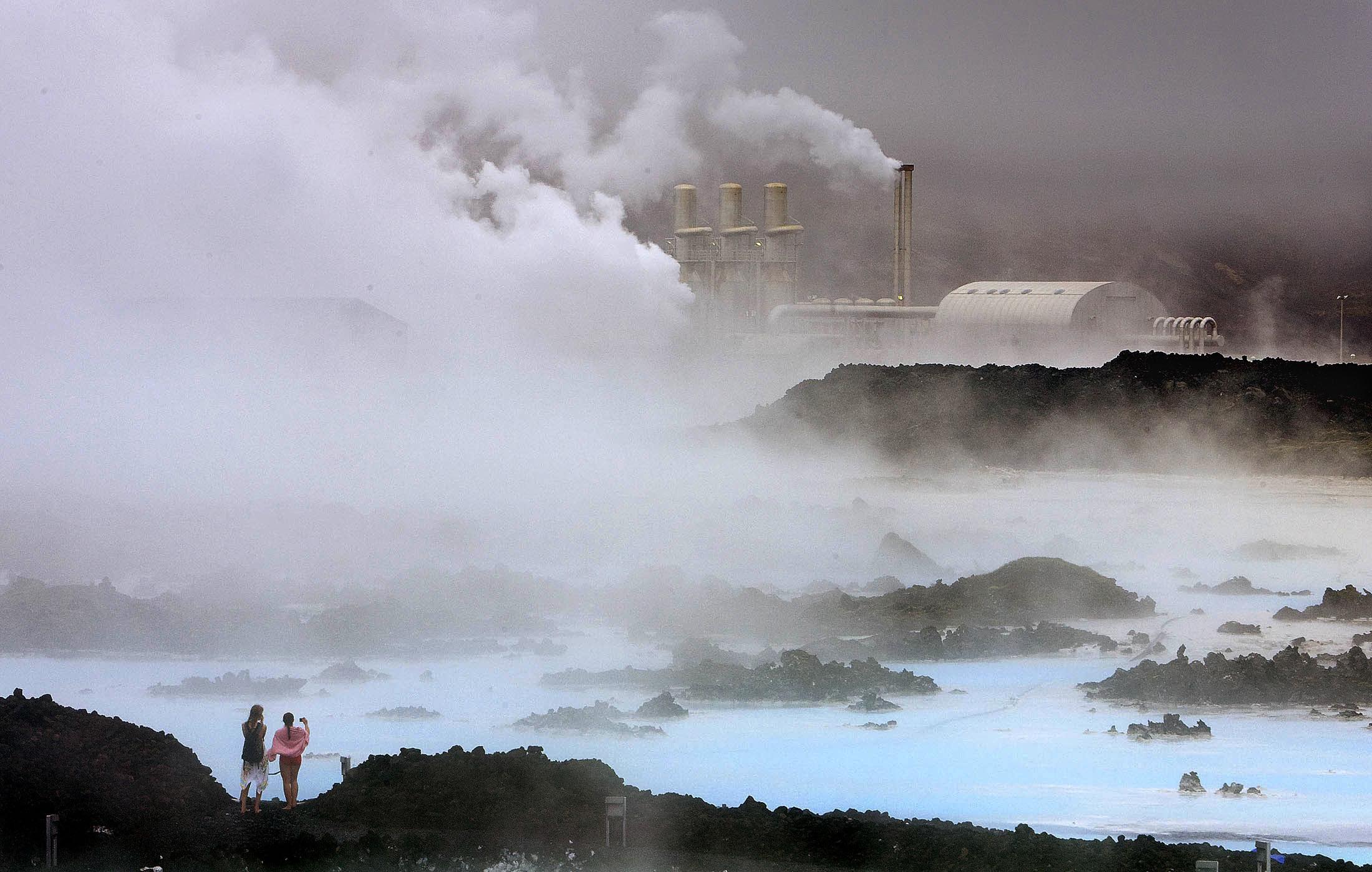 The Svartsengi geothermal plant near the Blue Lagoon, Iceland.