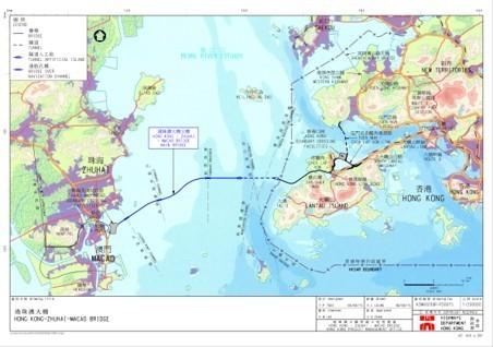 The trajectory of the Hong Kong-Zhuhai-Macao Bridge