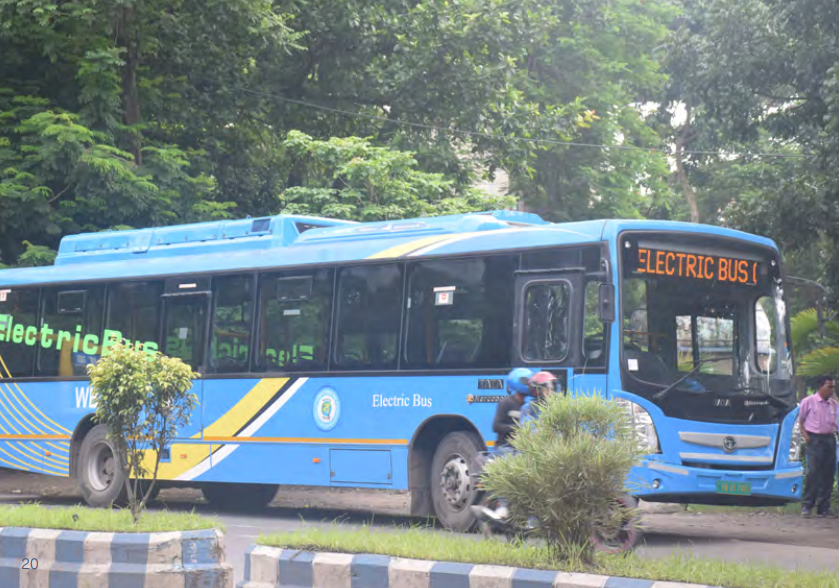 The fleet of electric buses will help ease the heavy congestion on Kolkata's roads.