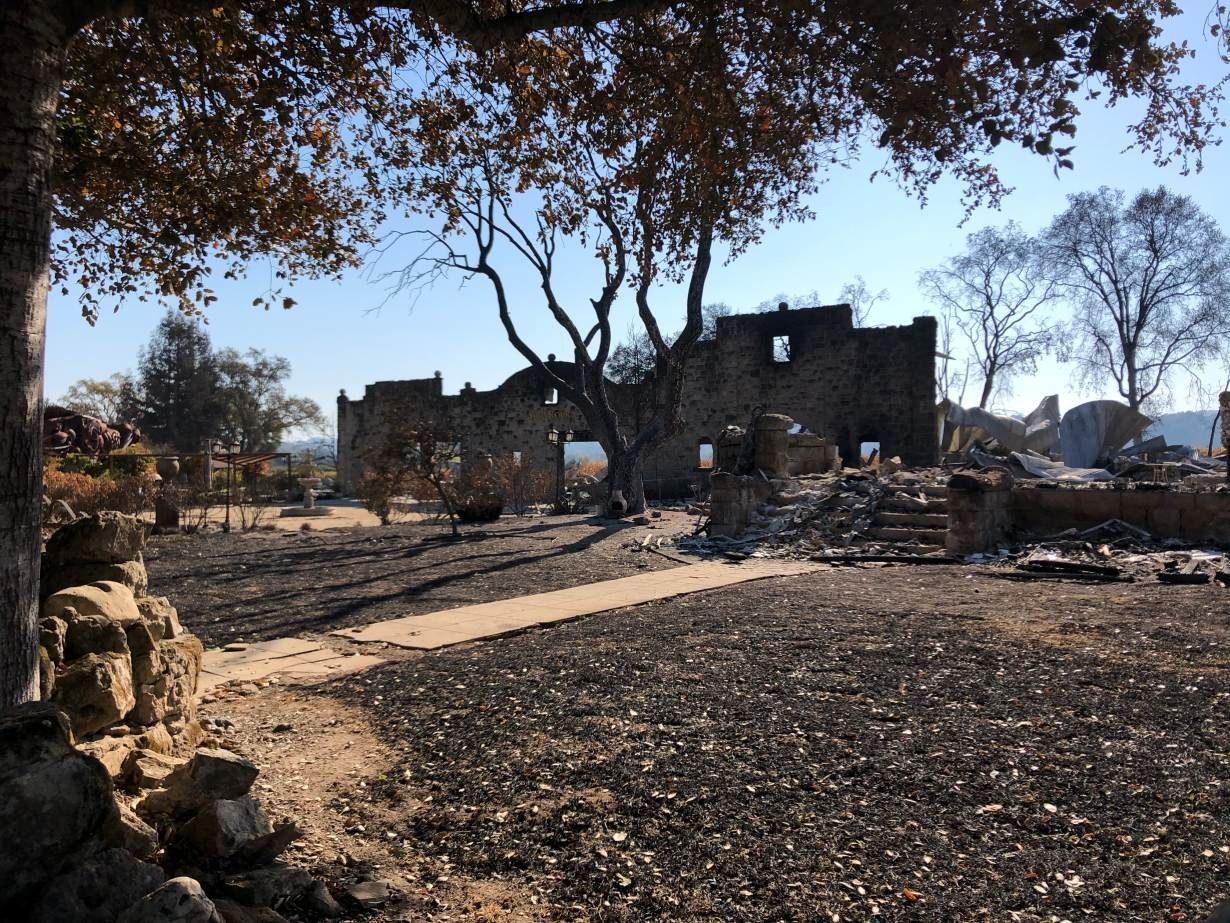 A view of the Soda Rock Winery, destroyed in Sonoma County's Kincade fire that started on Oct. 23, 2019, photo taken Nov. 6, 2019.