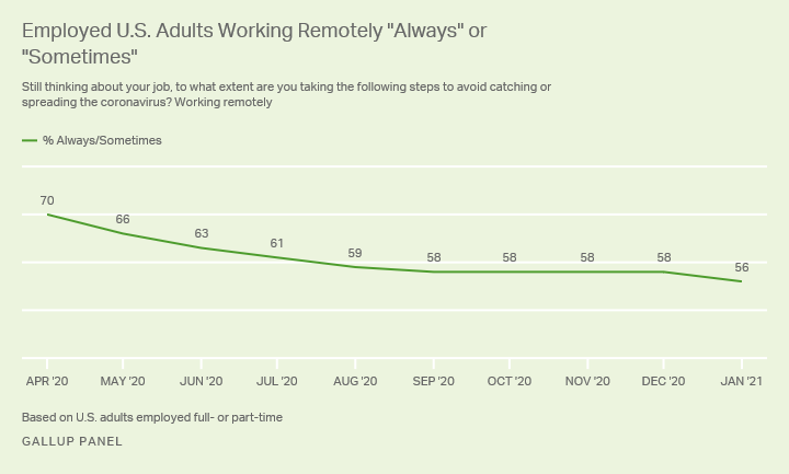 Adults working remotely