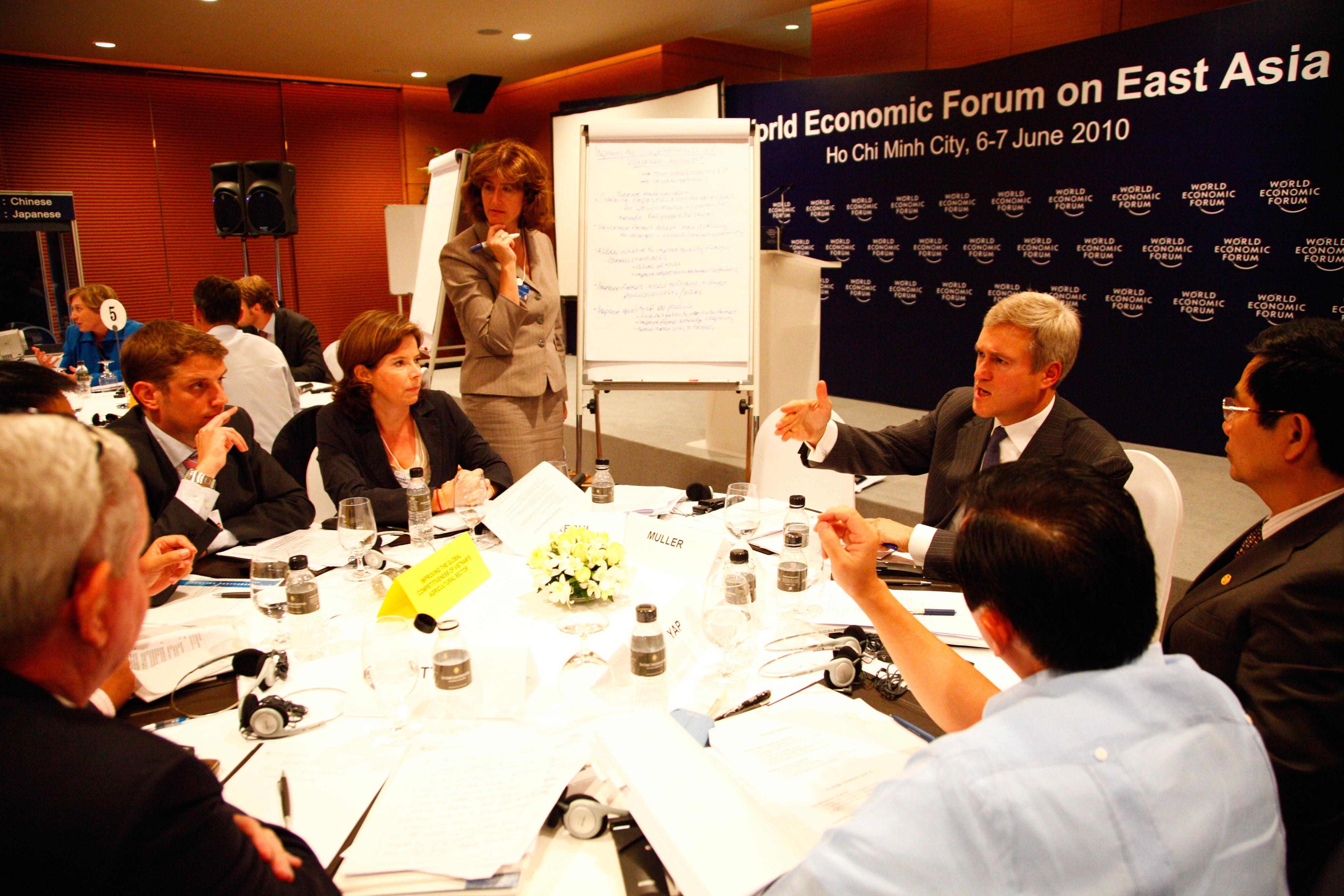 Participants at a breakout discussion