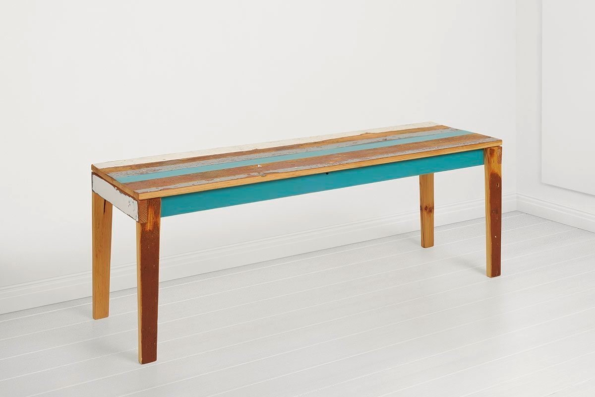 German recycled furniture company Geyersbach uses wood reclaimed from local buildings.