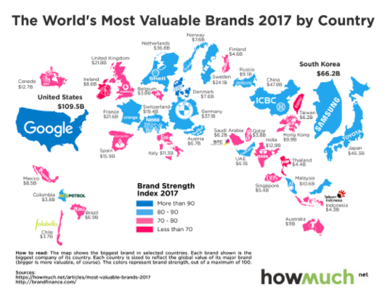 the world s most valuable brands in 2017. Black Bedroom Furniture Sets. Home Design Ideas