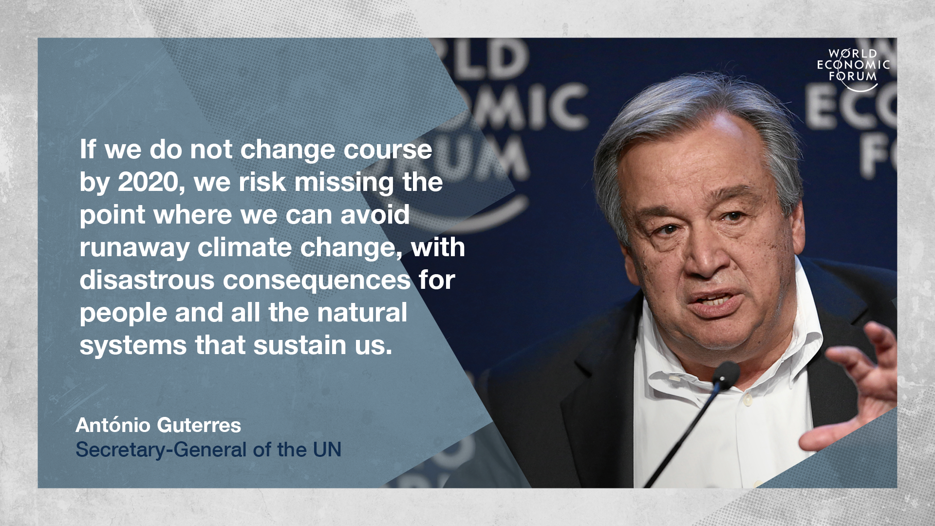 Antonio guterres in a special address to the meeting on thursday morning will build on attenboroughs message by doubling down on his recent stark climate