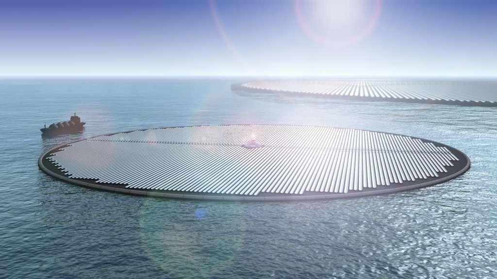 Chaque cluster de 70 îles permettrait de produire 1,75 tonne de méthanol par heure.